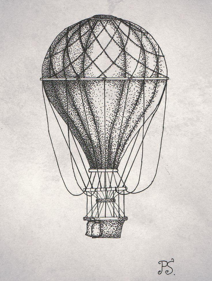 #tattoo #sketch #dotwork #black #balloon #vintage