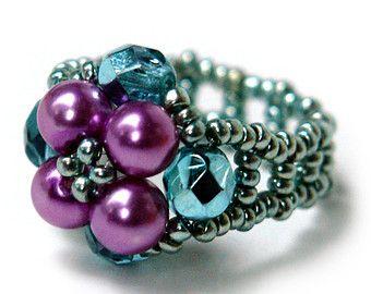 Metal Free Pearl Beaded Ring (0031)
