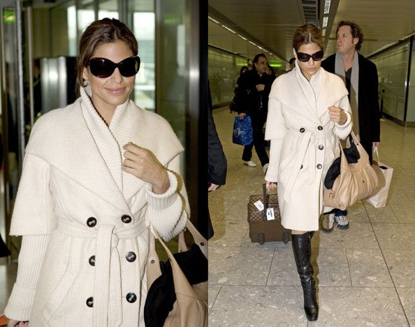 Eva Mendes...flawless airport style