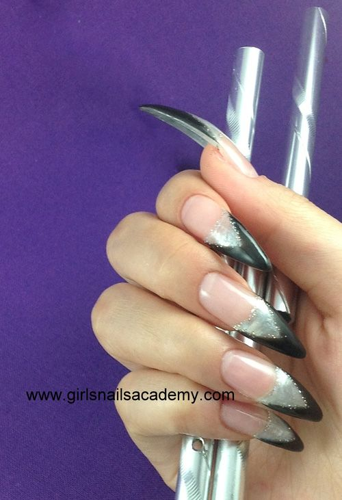 French Stilleto Girls, N° -1000  stilleto, Gel UV, capsules,  faux ongles