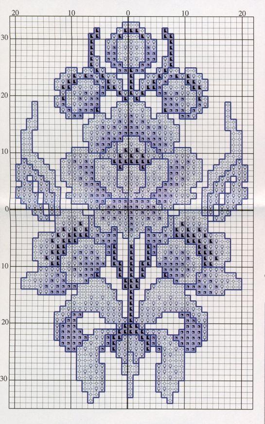 Schema punto croce Fiore Cinese1 #Afs 4/5/13