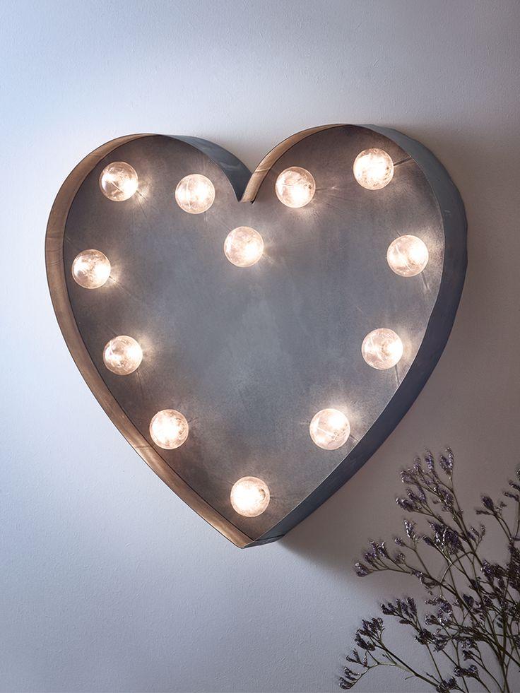 NEW Silver Heart Carnival Light