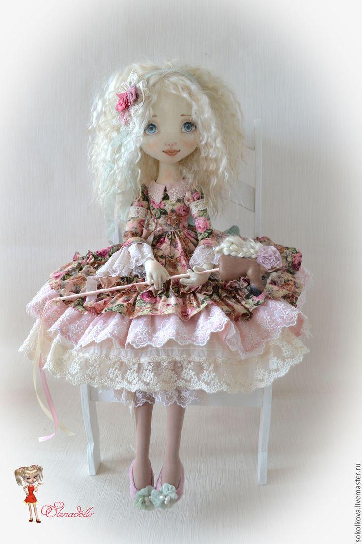 Купить Скарлетт - кукла, кукла ручной работы, кукла в подарок, кукла текстильная, кукла интерьерная