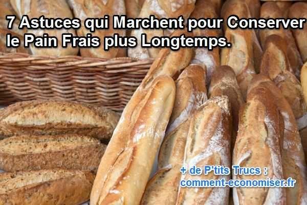 Que faire pour que le pain acheté le matin ou la veille soit encore bon ? Voici 7 astuces efficaces pour conserver votre pain frais plus longtemps :-)  Découvrez l'astuce ici : http://www.comment-economiser.fr/conserver-pain-frais.html?utm_content=buffer89a04&utm_medium=social&utm_source=pinterest.com&utm_campaign=buffer
