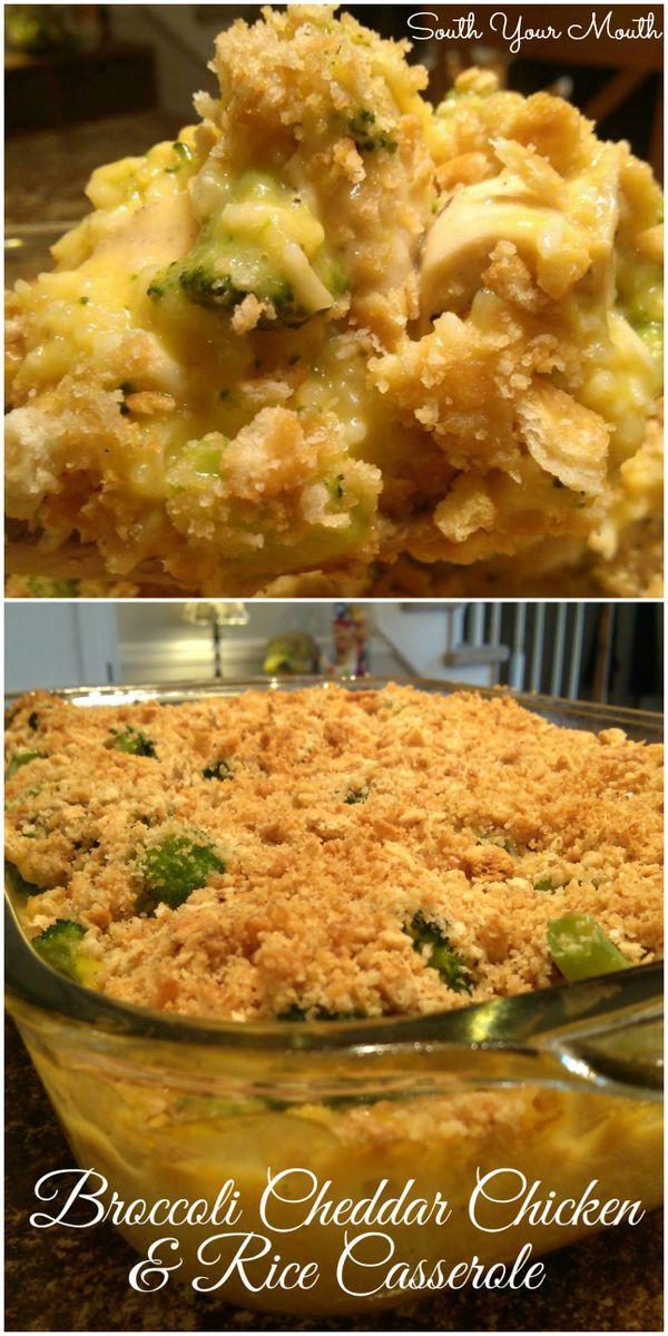 Broccoli Cheddar Chicken and Rice Casserole