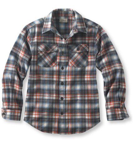 Boys' Flannel Shirt, Plaid: Shirts | Free Shipping at L.L.Bean