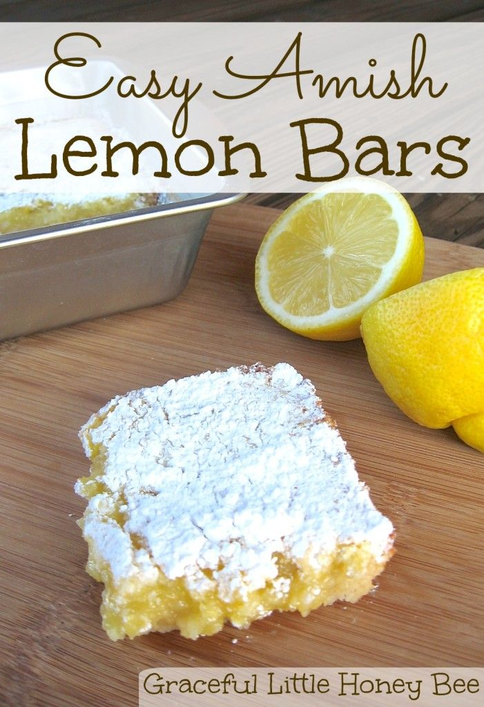 Easy Amish Lemon Bars: these look really simple to make, let's see if they're tasty.