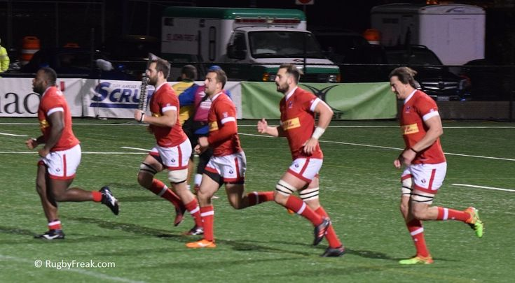 Team Canada players run back to centre field after scoring a try against Team Brazil during ARC game. #rugbyfreak #sofreaky #loverugby #rugby #rugbycanada #teambrazil #teamcanada #ARC