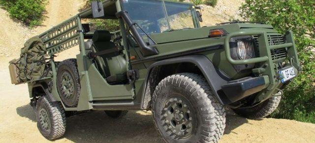 """Mercedes G in (un)gefährlicher Mission: Mercedes G 270 cdi Light Infantrie Vehicle: Der """"Serval"""" für das KSK der Bundeswehr wurde nur 28 mal gebaut - nur einer ist heute in privater Hand!"""