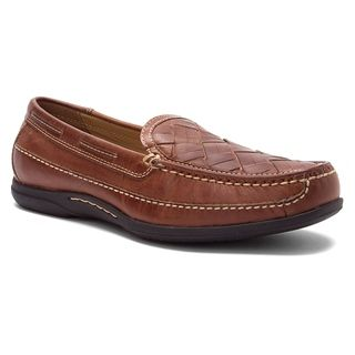 Add a refined finishing touch to your casual style with the Johnston & Murphy Trevitt Venetian loafer. This classic men's slip-on is crafted with a supple leather upper for a rich look. A sheepskin-covered, cushioned footbed lends breathable ease, while the Johnston & Murphy Trevitt Venetian dress shoe carries you on a durable synthetic sole for lasting wear and reliable traction.