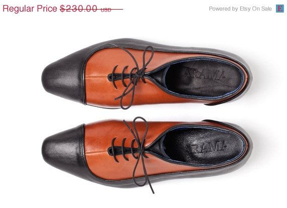 valentines day 20% off Black Brown Leather Shoes - Mens Oxford Shoes - Flat Shoes - Mens Brown Shoes - Brown Shoes - Brown Dress Shoes