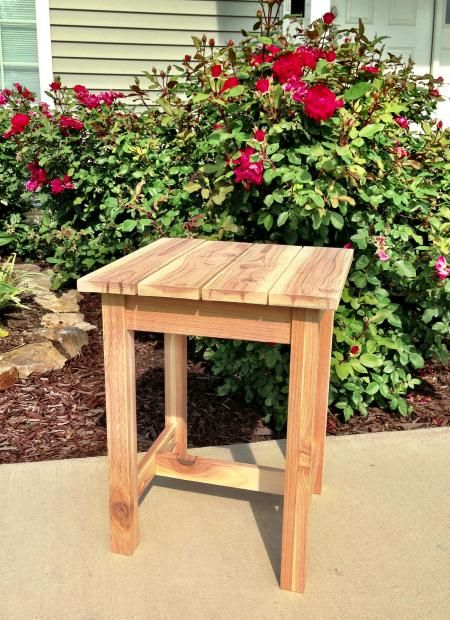 Cedar Table/Stool | Do It Yourself Home Projects from Ana-White.com
