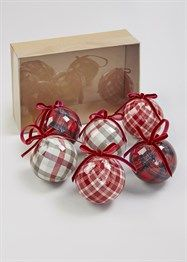 Christmas 6 Pack Bauble Tree Decorations (22cm x 15cm x 7cm)