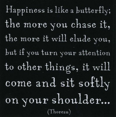 Must be why I'm so happy! I never chase  butterflies! They chase me...