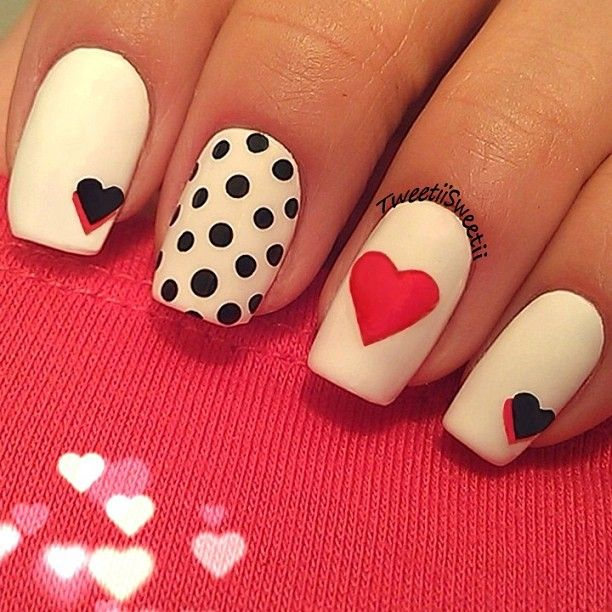 HEARTS #nail #nails #nailart