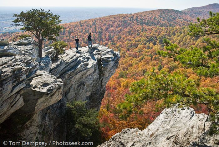 Hanging rock state park, nc. One of the most gorgeous places. Absolutely heart-stopping view, plus tons of waterfalls. Favorite nc spot.