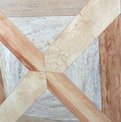 Wood lookalike shiny floor tile size (450x450)