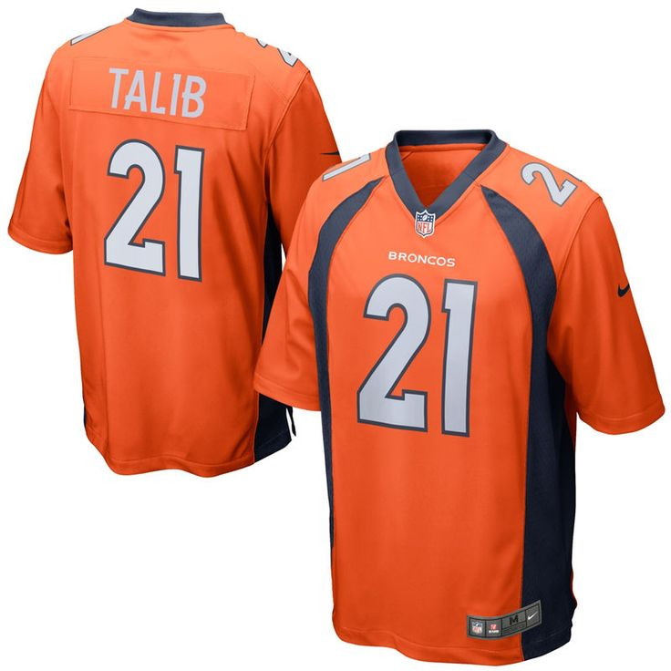 Aqib Talib Denver Broncos Youth Nike Team Color Game Jersey - Orange