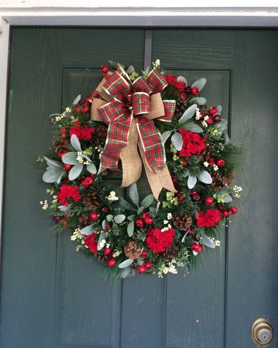 Christmas Wreath Christmas Wreaths Christmas Wreath For Front Door Wreath Christmas Red Berry Wreath Pine Wreath Red Christmas Wreath Christmas Wreaths Christmas Wreaths For Front Door Red Berry Wreath