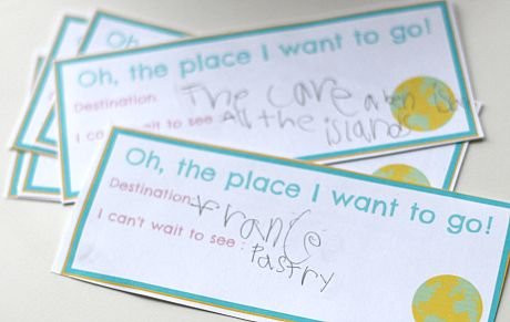 Free printable - Dr. Seuss Oh the Places I Want to Go! geography lesson