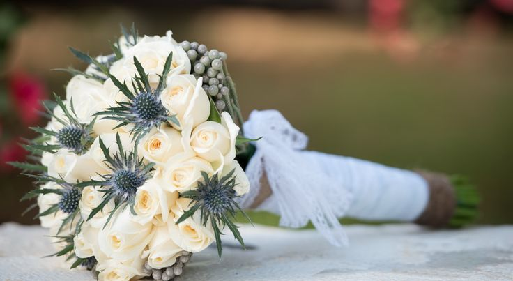 Rustic Bridal Bouquet - Wedding in Crete