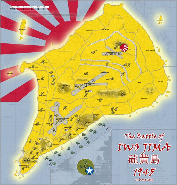 Iwo Jima battle map