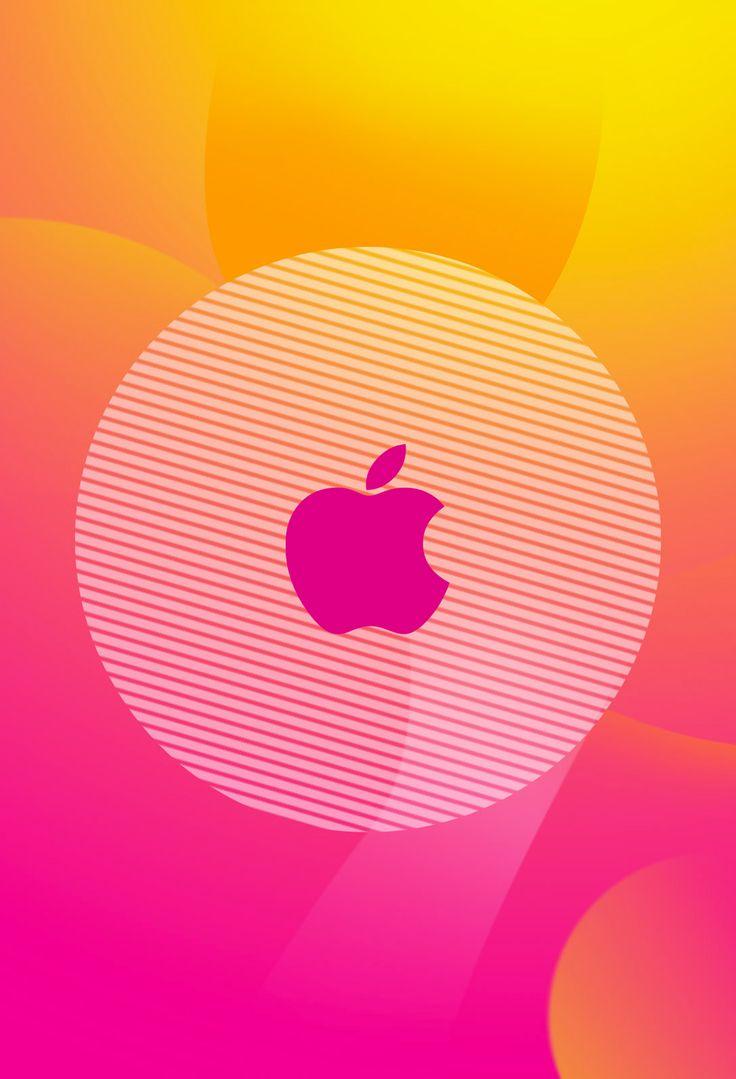 Orange apple logo with black background iphone full hd photo ...