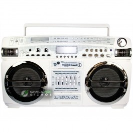 """""""Pump Up the Jam"""" with this sick """"retro style"""" ghetto blaster Boom-box. Released in July 2012    It may look like a throwback to a simpler time but this stereo is rocking some seriously advanced audio technology like: built-in bluetooth for audio streaming from your iPhone or Android device and supports USB, SD Card, and MMC and MP3 playback. $159"""