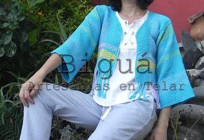 Saco de Verano tejido a #telar