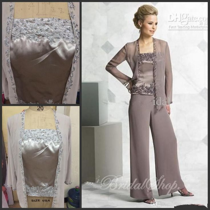 Actual Picture Elegent Mother of the Bride Pant Suits Chiffon Dresses with Jacket Mother of the Bride Dresses Pant Suits from Goodgms,$120.42 | DHgate.com