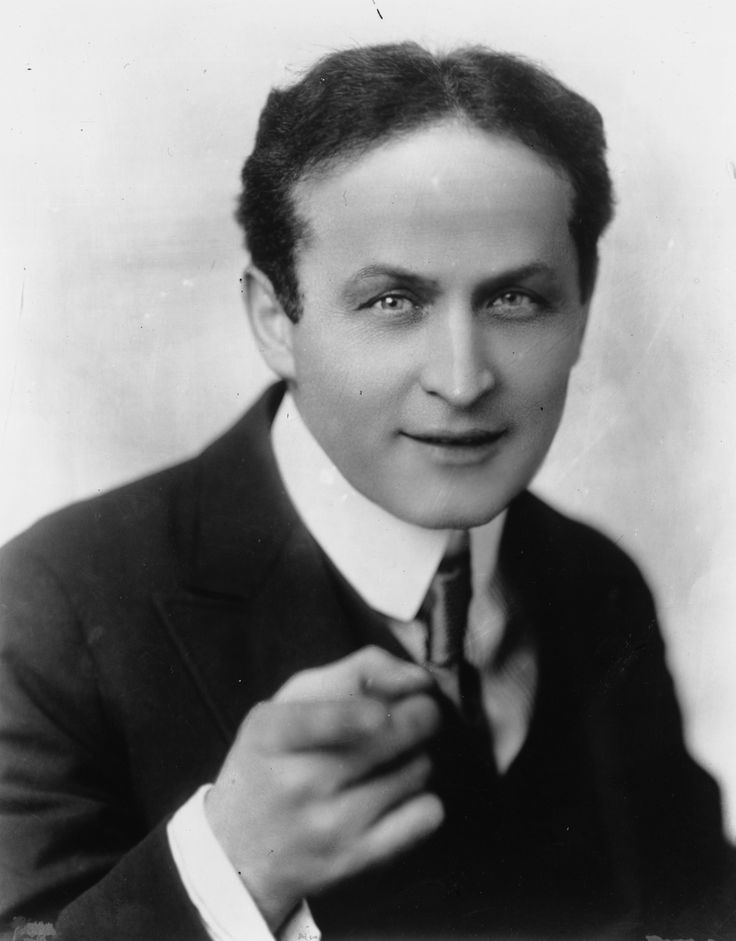 Harry Houdini, one of the greatest magicians of all time.