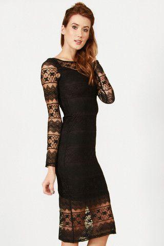 Black Lace Beauty Dress