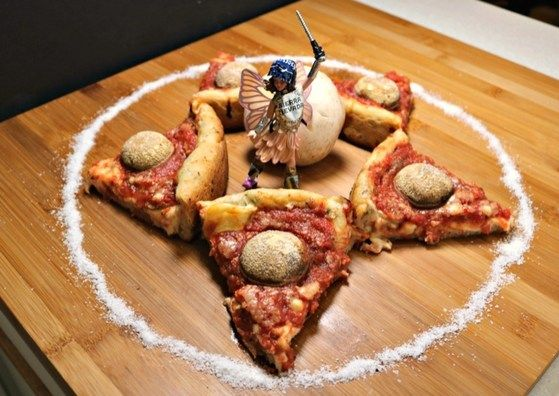 The Dresden Files - Pixie Pizza. Toot-toot approved!