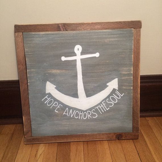 Hope Anchors The Soul Sign Home Decor Anchor by dwellingspace