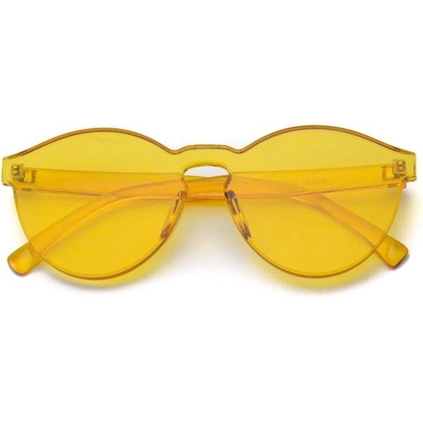 2ccb53778f Bailey colorful transparent round cool sunglasses ( 37) ❤ liked on Polyvore  featuring accessories