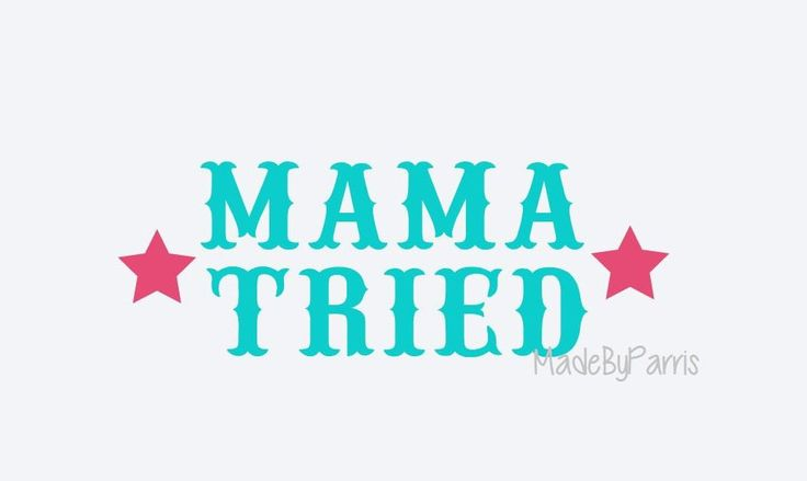 Mama Tried Vinyl Decal, Merle Haggard Decal, Country Decal, Southern Decal, Car Decal, Truck Decal, Yeti Decal, Country Legend, Vinyl Decal by MadeByParris on Etsy