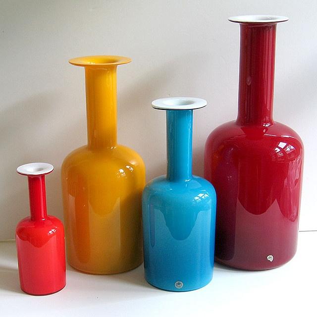 Vintage holmegaard vases.
