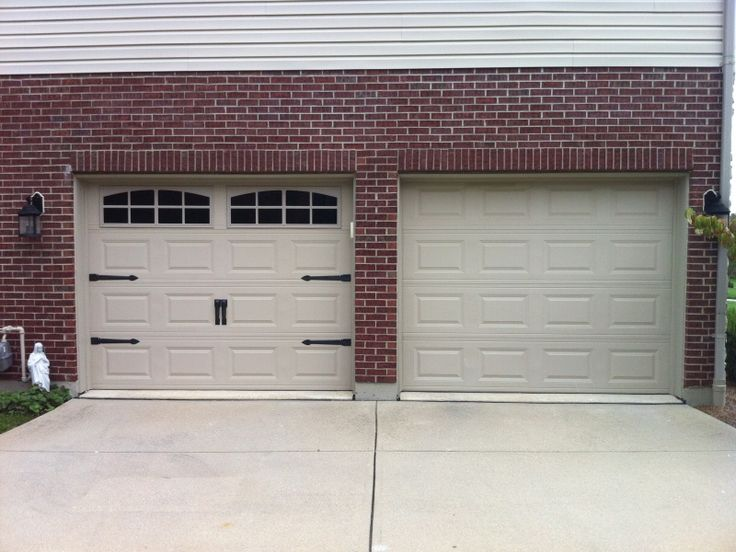 How to dress up your garage doors inexpensively and by yourself.
