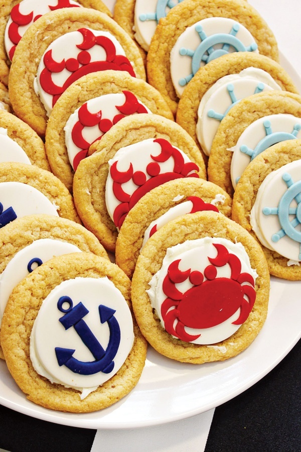 nautical party cookies could get cookie cutter for fondant
