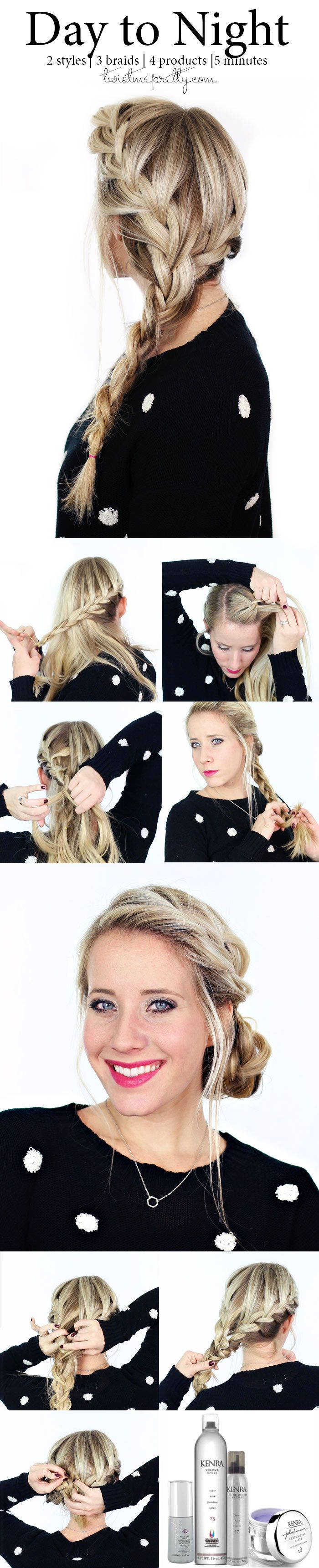 Having a few transitional hairstyles are a must this holiday season!!  From a busy day braid to an elegant updo, come learn these gorgeous styles at twistmepretty.com
