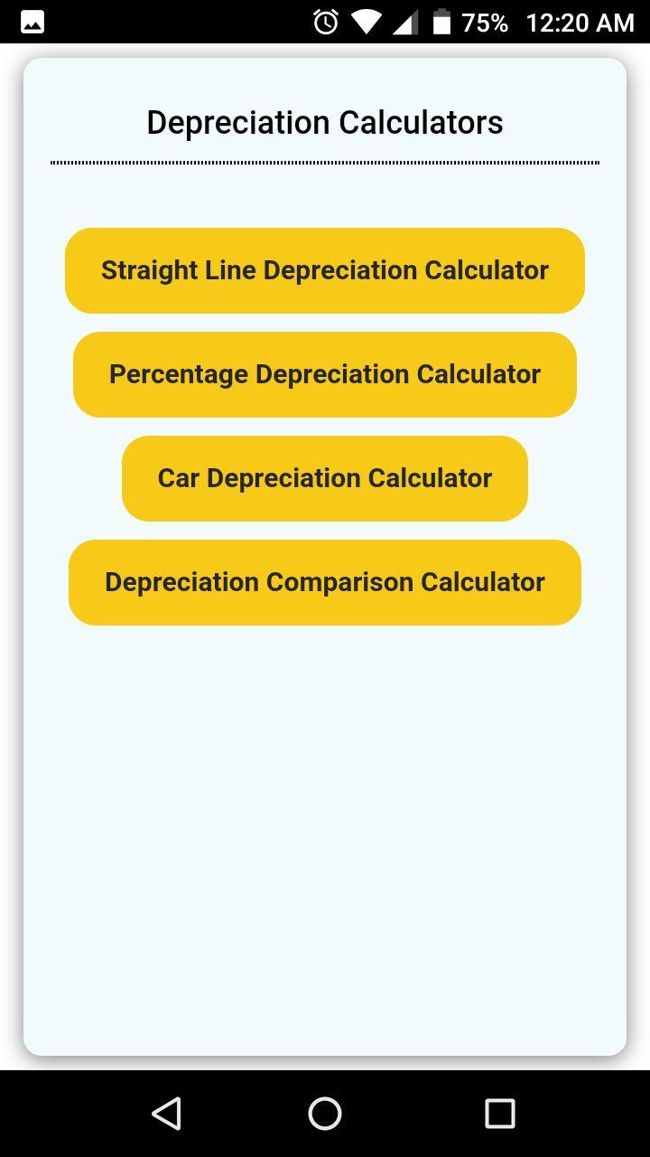 Straight Line Depreciation Calculator Calculator Calculator