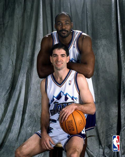John Stockton and Karl Malone awesome guys great ballers!!! And very nice in person!