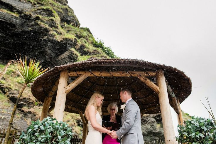 """""""Don't be afraid to ask for help and to accept offers of help. We had a wedding party of 8 bridesmaids and 4 ushers and their help and support with all the details was incredible and one of the most meaningful things about the whole event."""" Pip & Luke Married in Ilfracombe,UK Photography by Babb …"""