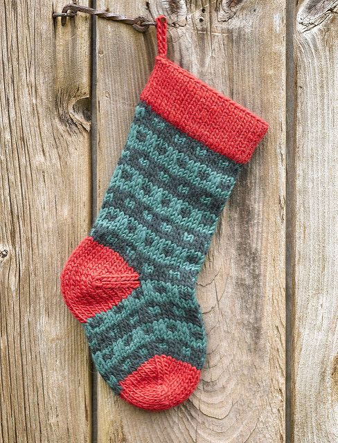 Ravelry: Spotted Christmas Stocking pattern by Kirsten Hipsky