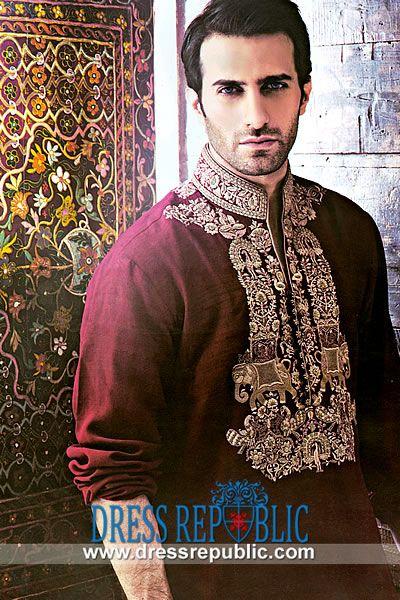 Buy Online Eid Kurta 2014 Collection in Atlanta, GA  Embroidered Kurta Shalwar in Maroon from Pakistani Kurta Collection on Dressrepublic. Buy Online Eid Kurta in Atlanta, Georgia USA. by www.dressrepublic.com