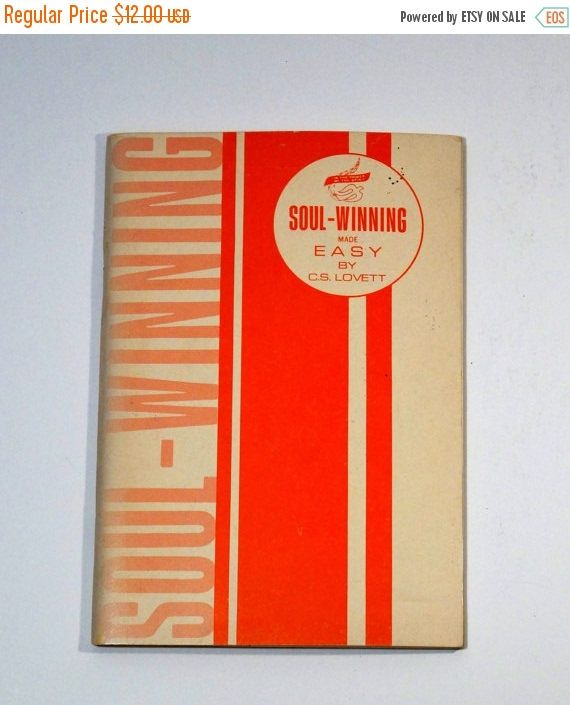 SALE Soul-Winning Made Easy - 1959 - C.S. Lovett - Personal Christianity Book by ElpineVintageBooks on Etsy