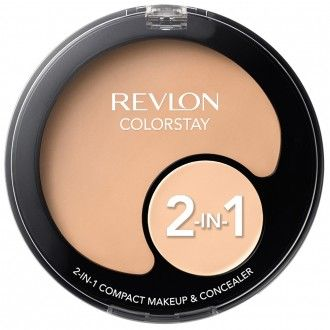 Revlon ColorStay 2 In 1 Compact Makeup  This foundation and concealer are full coverage and last well on the skin. It's convenient to have two makeup products in one.  #affiliatelink