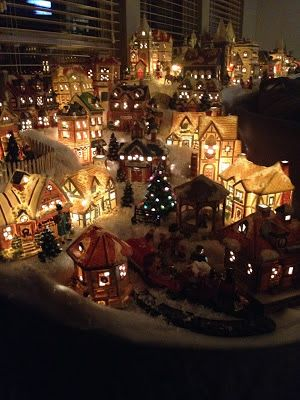 how to set up a christmas village display