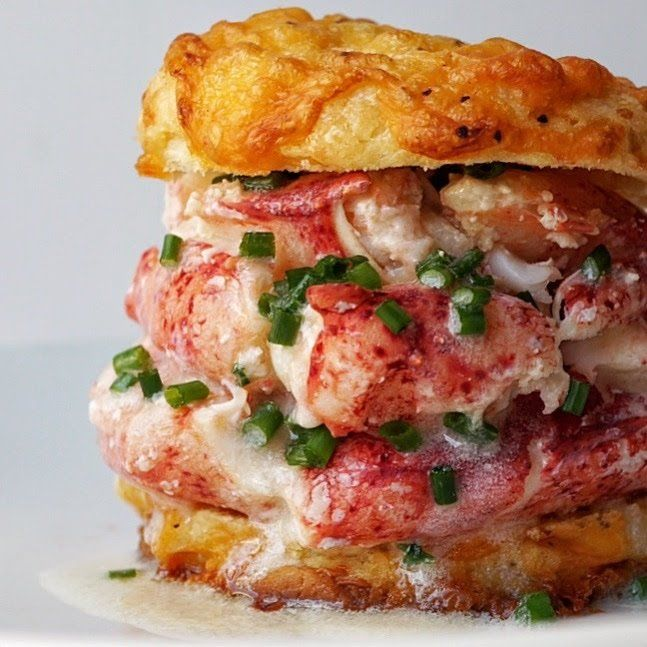 Drooling butter for the Cheddar Cheese Biscuits and Lobster Sandwich… I've always loved biscuits, but getting them just right has always been a challenge…. until now… The be…