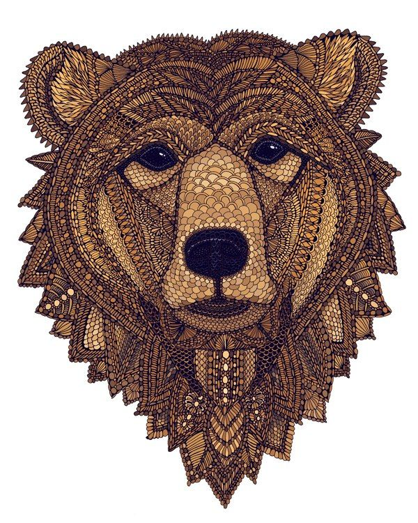 intricate bear, could make similar out of fabric? Brilliant design development with fur, subtle but highly effective
